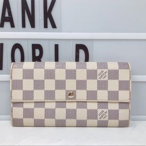 Louis Vuitton Sarah Long Damier Azur wallet